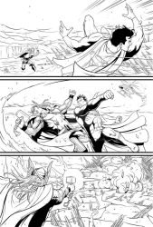 Superman vs. Thor, page 1 by Almayer