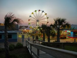 Carolina Beach Boardwalk by littlereview