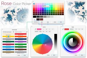 Rose - Color Picker mockup version 4 by 13iangel