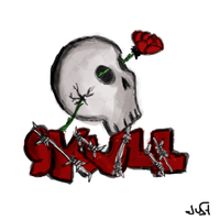 Skull'n'Roses by JuStiZoReD