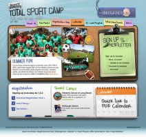 Total Sports Camp Website by Cameron-Schuyler