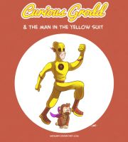 Curious Grodd and the Man in the Yellow Suit by geogant