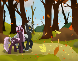Walking with the Leaves by FallenAngel5414