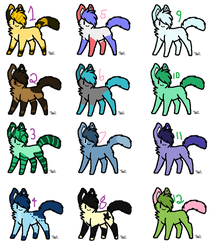 (5/12) Adoptable Batch (3-5 Points) by mousue