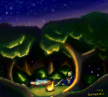 Late night camp. by cherry-burlesque