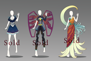 Inspiration Outfit Adopts 1-3 (Closed) by 96-Adopts