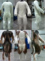 Airbrushing Wolf Fursuit Bodysuit by zyxwen