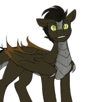 another new sketch of my dragon Pony OC by longshotswiftshadow