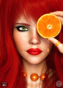 Red Orange (inspired by Vizzee - Daniela Uhlig) by neoanderson79