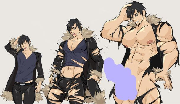 Izaya Muscle Growth by GasaiV
