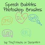 Speech Bubbles Photoshop Brushes by TinyTrinkets