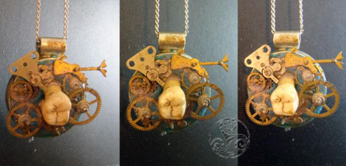 Molar Mechanism Pendant ~ Taste of Time Piece 2 by Klyde-Chroma