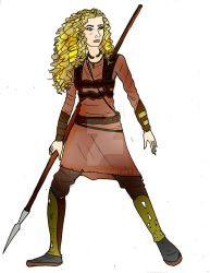 DH Young Aislinn battle costume redesign by Selinelle