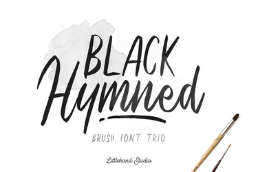 Black Hymned - Font Trio ( FREE DOWNLOAD ) by GraphicAssets