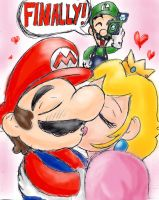Valentine's-Mario and Peach by MarioBros-Animated