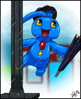 Rain Dancer Manaphy by Fiidchell