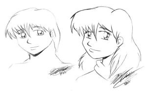 Head Shots of Lyle and Ella by jimmysworld