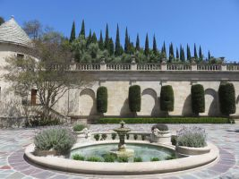 Mansion Courtyard Fountain by ShipperTrish
