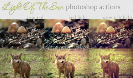 Light Up The Sun photoshop actions by AssassinLenna