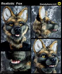 Realistic Fox by DandylionsLLC