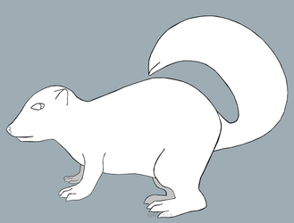Skunk lineart (free to use) by gamerd