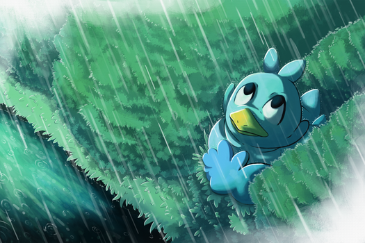 Rainy little Ducklett by Lightcall-Skeleton