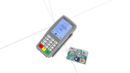 Credit card reader and credit card Miku Hatsune by CogetaCats