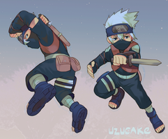 Little Kakashi by Uzucake