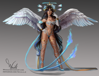 Angel Sketch Concept by Whails