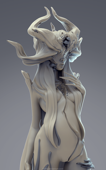Forest Maiden sculpt by laloon