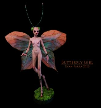 Butterfly Girl  by evanparrafx