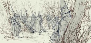 Ash Walkers, Illustration Sketch by TimofeyStepanov