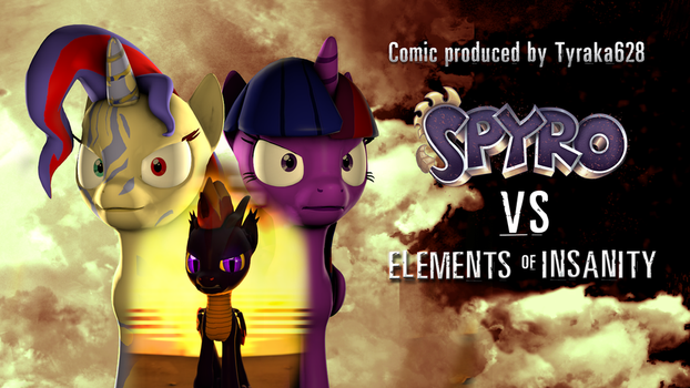 Spyro VS Elements of Insanity - Second Comic Cover by DazzioN