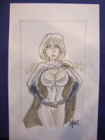 Power Girl sketch by Maus by billmausart