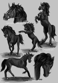 Asoge Sketchdump by RedWryvenArt