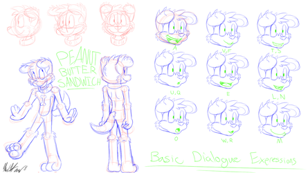 Peanut Sandwich Animation Reference Sheet by CHAOKOCartoons