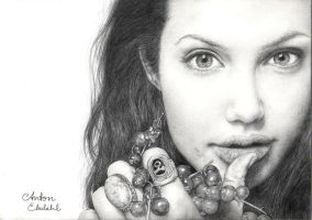 Angelina Jolie by Pencil-Envy