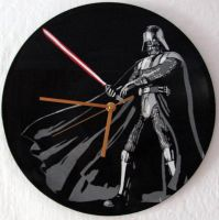 Darth Vader on vinyl record clock by vantidus