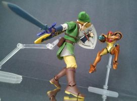 Link vs Samus by 0PT1C5