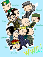 ww2 Leaders by yokuroki