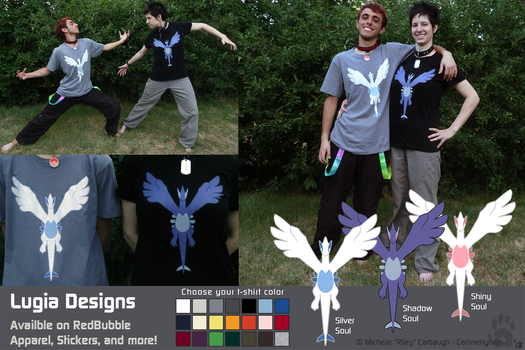 Lugia Designs by CanineHybrid