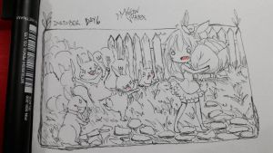 Inktober Day 6 drooling by Meow-Vortex