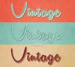Vintage text effects by Free-designs-net