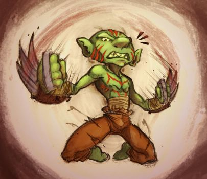 Goblin Claw Bearer by ben-ben