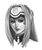 KOS-MOS Sketch by Sessie