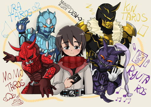 DEN-O's Gang is Back by BiPinkBunny