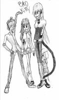 Mike Anna Athena and Emma by StygianRecluse