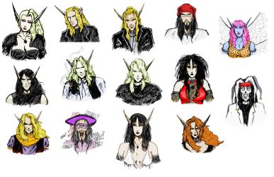 poison elves sketches by cymbrele