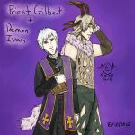 Hetalia: Priest Gilbert and Demon Ivan by SOTDcorp
