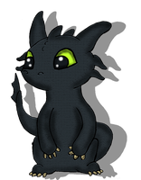 Toothless by sharkcastic